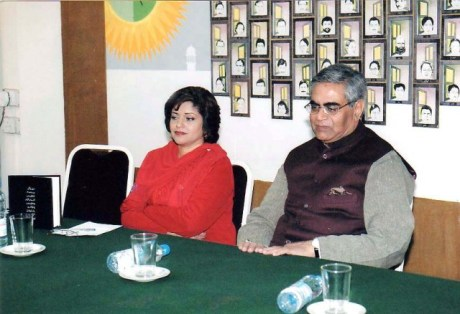 Mr.Iftikhar Arif and Farzana Khan Naina