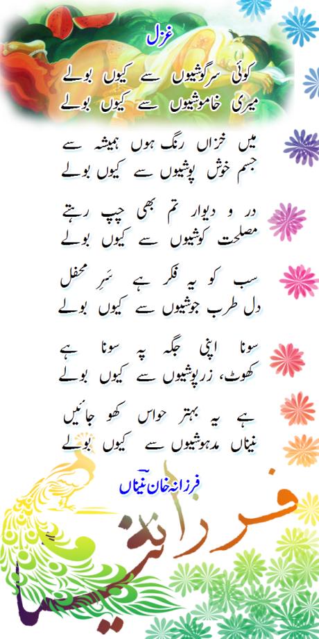 Koi sargoshiyon se kyon bole-Farzana Naina-Wordpress