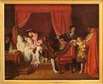 32 Francis I of France receiving the last breath of Leonardo da Vinci, by Ingres, 1818.