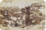 Leonardo's earliest known drawing, the Arno Valley, (1473)