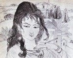 A less known but superb etching by Chughtai