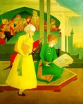 Abdur Rahman Chughtai 5 (Shah Jahan and Ustad Ahmad Mimar)