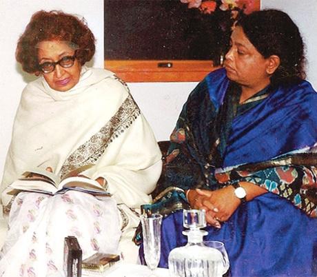 Sughra Mehdi with Quratul Ain Haider