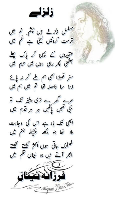 Musalsal zalzale hain-Farzana Naina-Wordpress