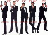 Roger Moore, James Bond 007, Sean Connery, George Lazenby, Roger Moore, Timothy Dalton, Pierce Brosnan, Daniel Craig