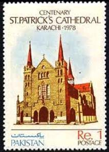 Pakistani Stamp Cathederal