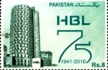 Pakistani Stamp PLATINUM JUBILEE HABIB BANK LIMITED (1941 - 2016)